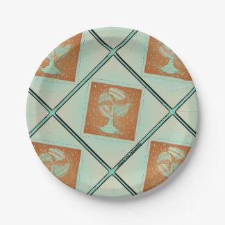 Vintage Fan paper platee 7 Inch Paper Plate