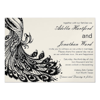 Vintage Fancy in Black 13 Cm X 18 Cm Invitation Card
