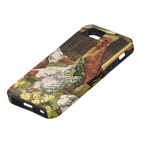 Vintage Farm Animals, Rooster, Hens, Chickens Tough iPhone 5 Case