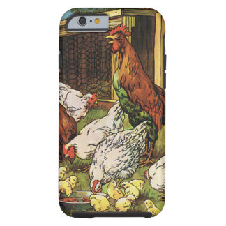 Vintage Farm Animals, Rooster, Hens, Chickens Tough iPhone 6 Case