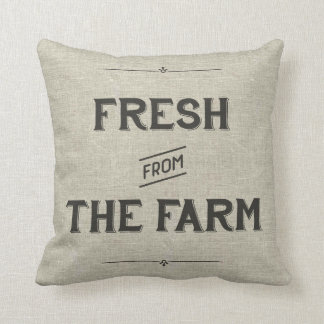 Vintage Farm Pillow - Fresh From the Farm