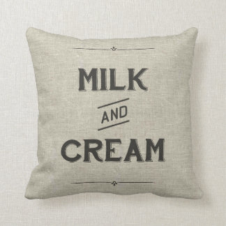 Vintage Farm Pillow - Milk & Cream