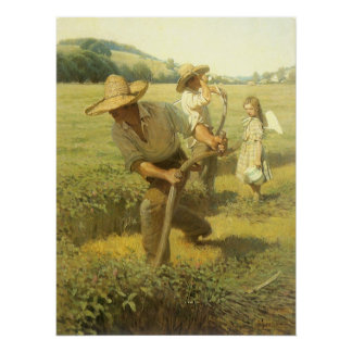 Vintage Farmers, Back to the Farm by NC Wyeth Poster