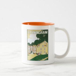 Vintage Farningham England Mugs