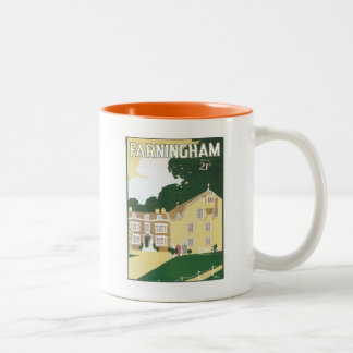 Vintage Farningham England Two-Tone Coffee Mug