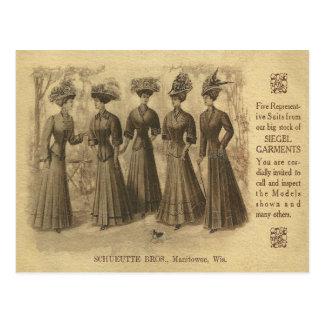 Vintage Fashion Ad Postcard
