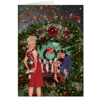 Vintage Fashion Christmas Card