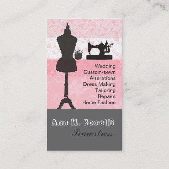 Vintage fashion crafts girly pink floral sewing business card vintage fashion crafts girly pink floral sewing business card reheart Image collections
