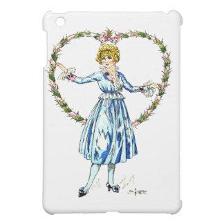 Vintage Fashion Dress and Flowers Art iPad Case.