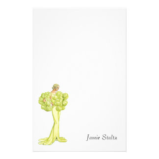 Vintage Fashion Illustration Great Gatsby Stationery