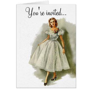 Vintage fashion invitation card