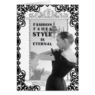 Vintage Fashion-notecard Card