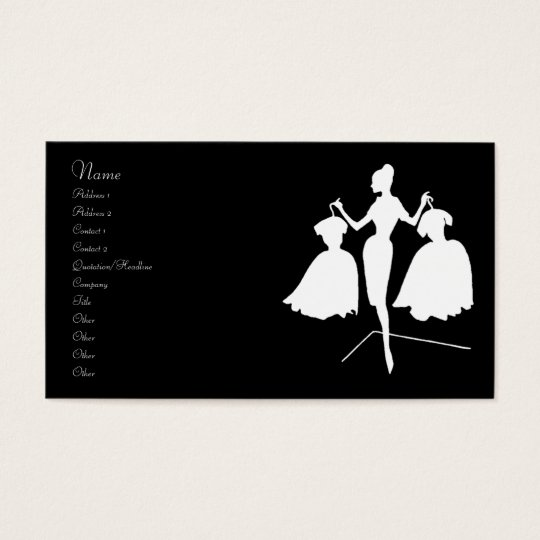 Vintage Fashion Silhouette Business Card