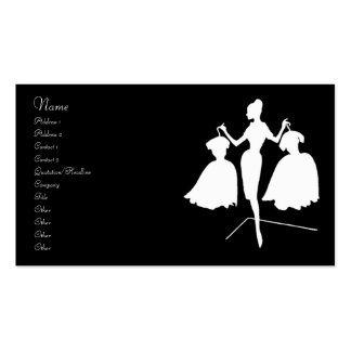Vintage Fashion Silhouette Business Card Template