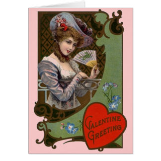 Vintage Fashionable Victorian Valentine's Day Card