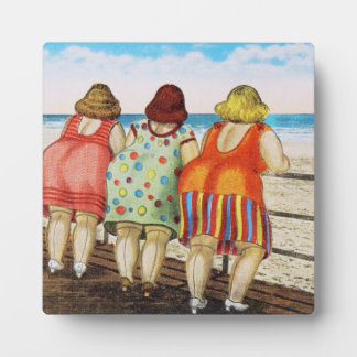 Vintage Fat Bottomed Girls at Beach Photo Plaque