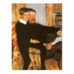 Vintage Father and Son Family Portrait by Cassatt Postcard
