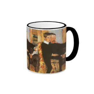 Vintage Father and Son Portrait by Mary Cassatt Ringer Mug
