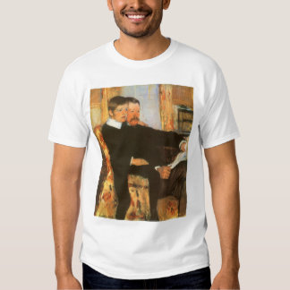 Vintage Father and Son Portrait by Mary Cassatt T-shirts