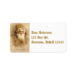 Vintage Father Christmas Address Labels