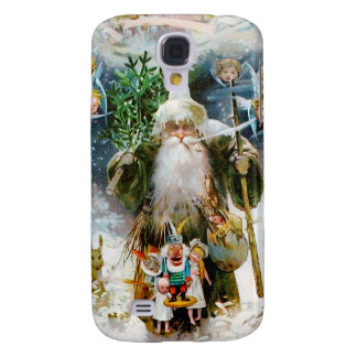 Vintage Father Christmas Galaxy S4 Covers