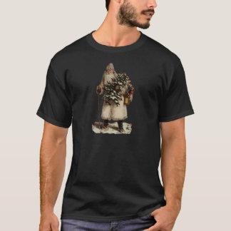 Vintage Father Christmas Dark Shirt