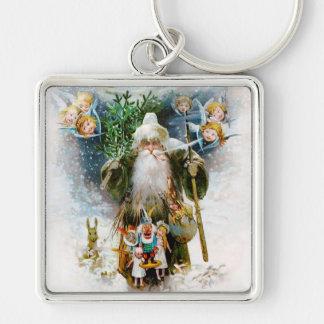 Vintage Father Christmas Key Chain