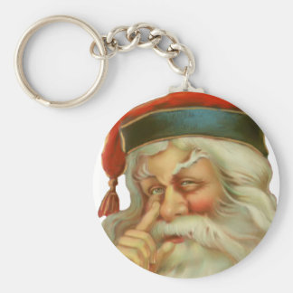 Vintage Father Christmas Keychain
