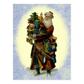 Vintage Father Christmas Postcard