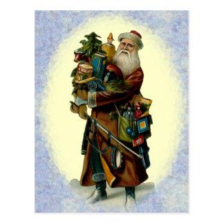 Vintage Father Christmas Postcard