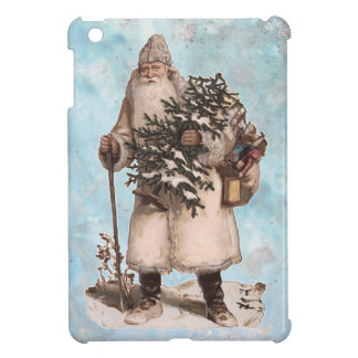 Vintage Father Christmas Santa Silver Snow Falling iPad Mini Case