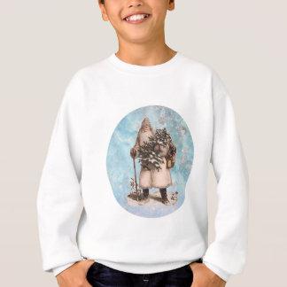 Vintage Father Christmas Santa Snow Falling Sweatshirt