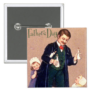Vintage Father's Day 15 Cm Square Badge