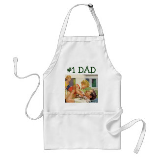 Vintage Father's Day, Happy Dad and Son Boy Standard Apron