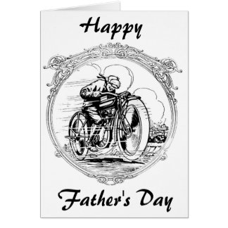 Vintage Father's Day Motorcycle Card