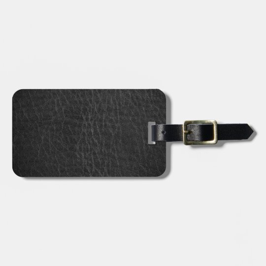 Vintage Faux Leather Luggage Tag
