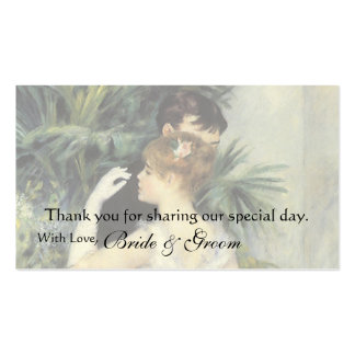 Vintage Favor Thank You Card, City Dance by Renoir Pack Of Standard Business Cards