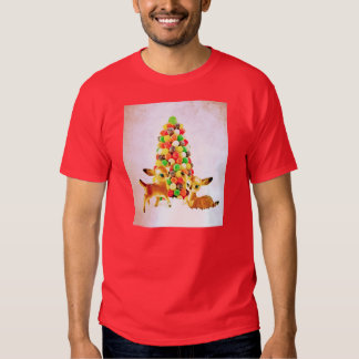Vintage Fawns by Gumdrop Christmas Tree T-shirt