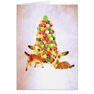 Vintage Fawns by Gumdrop Tree Greeting Card