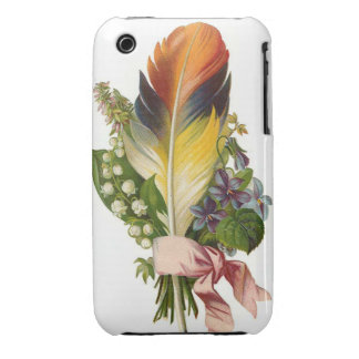 Vintage Feather Floral Bouquet - iPhone 3/g/3gs iPhone 3 Covers