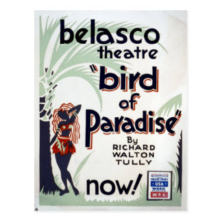 Vintage Federal Theatre Project Bird of Paradise Postcard