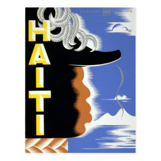 Vintage Federal Theatre Project Haiti Harlem WPA Postcard