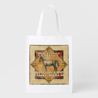 Vintage Feed Sack, Fancy Oats, grocery bag