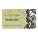 Vintage Feel Figure  Fashionable Business Card Template