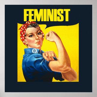 Vintage Feminist Rosie Riveter Posters