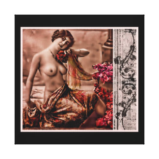 Vintage Femme Stretched Canvas Prints