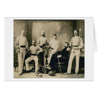 Vintage Fencers!  Vintage Greeting or Note Card