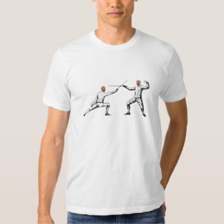 Vintage Fencing Bout Phrenology Head Shirts