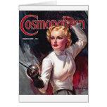Vintage Fencing Cosmopolitan Beauty Note Card