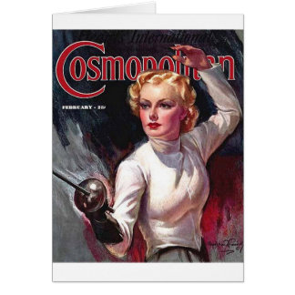 Vintage Fencing Cosmopolitan Beauty Note Card
